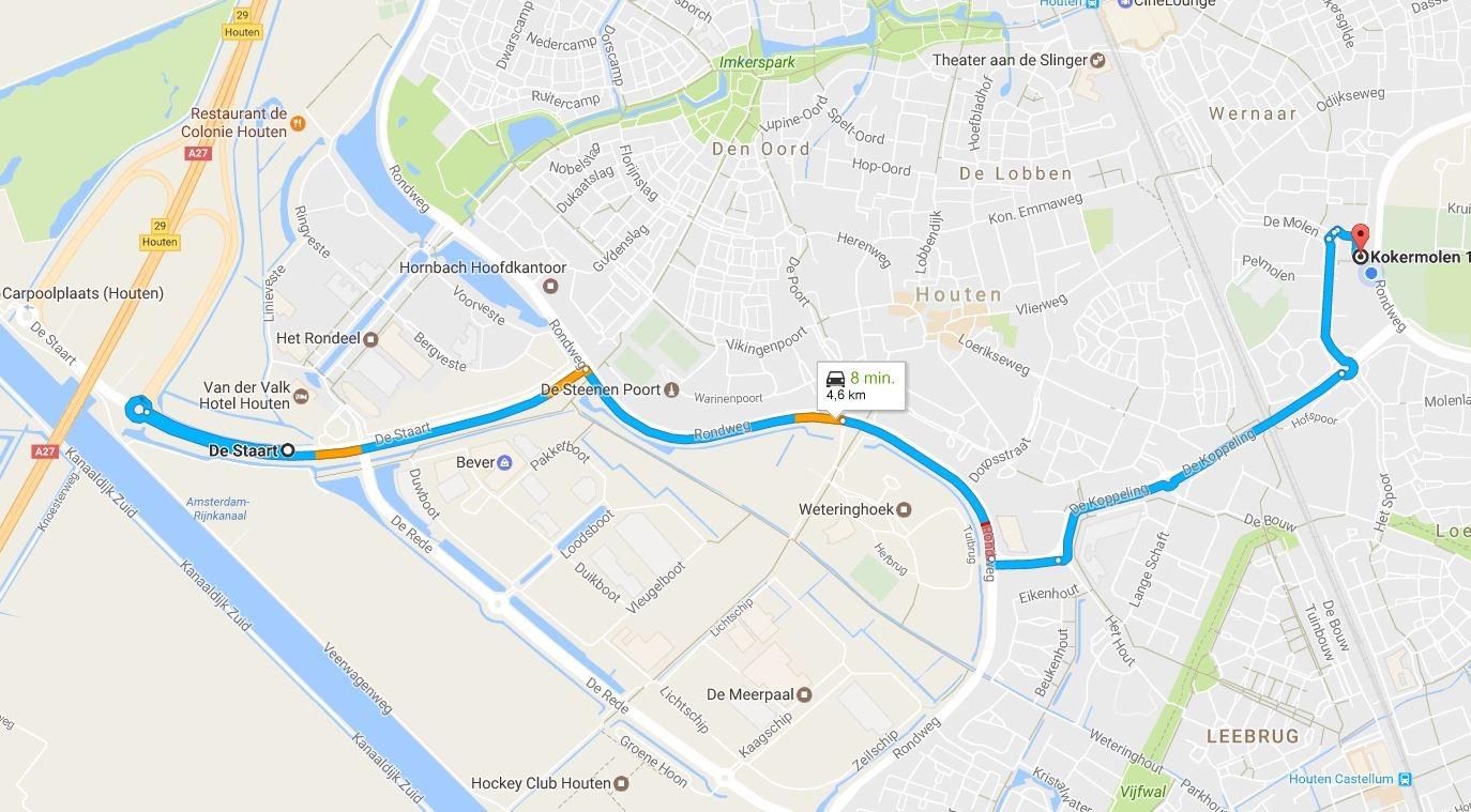 Route-met-auto